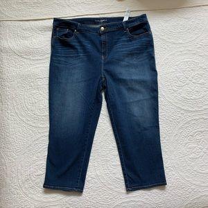 Chico's cropped Platinum jeans